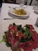 Carpaccio and Pasta