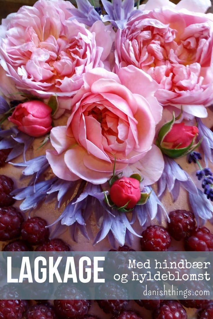 Lav en lækker lagkage med 2 slags mousse: hindbærmousse og citron-hyldeblomstmousse og dekorerer med spiselige blomster. Find flere opskrifter på lagkager, mad og desserter, samt inspiration til årets gang på danishthings.com