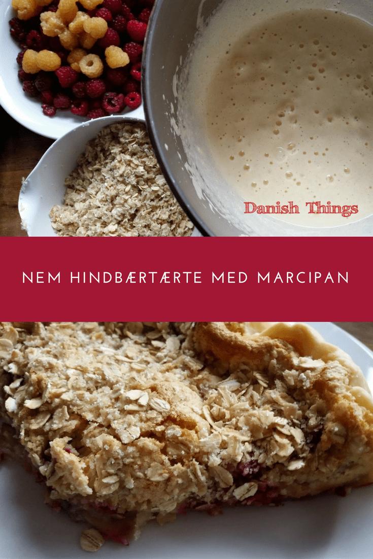 Nem hindbærtærte med marcipan © DanishThings.com