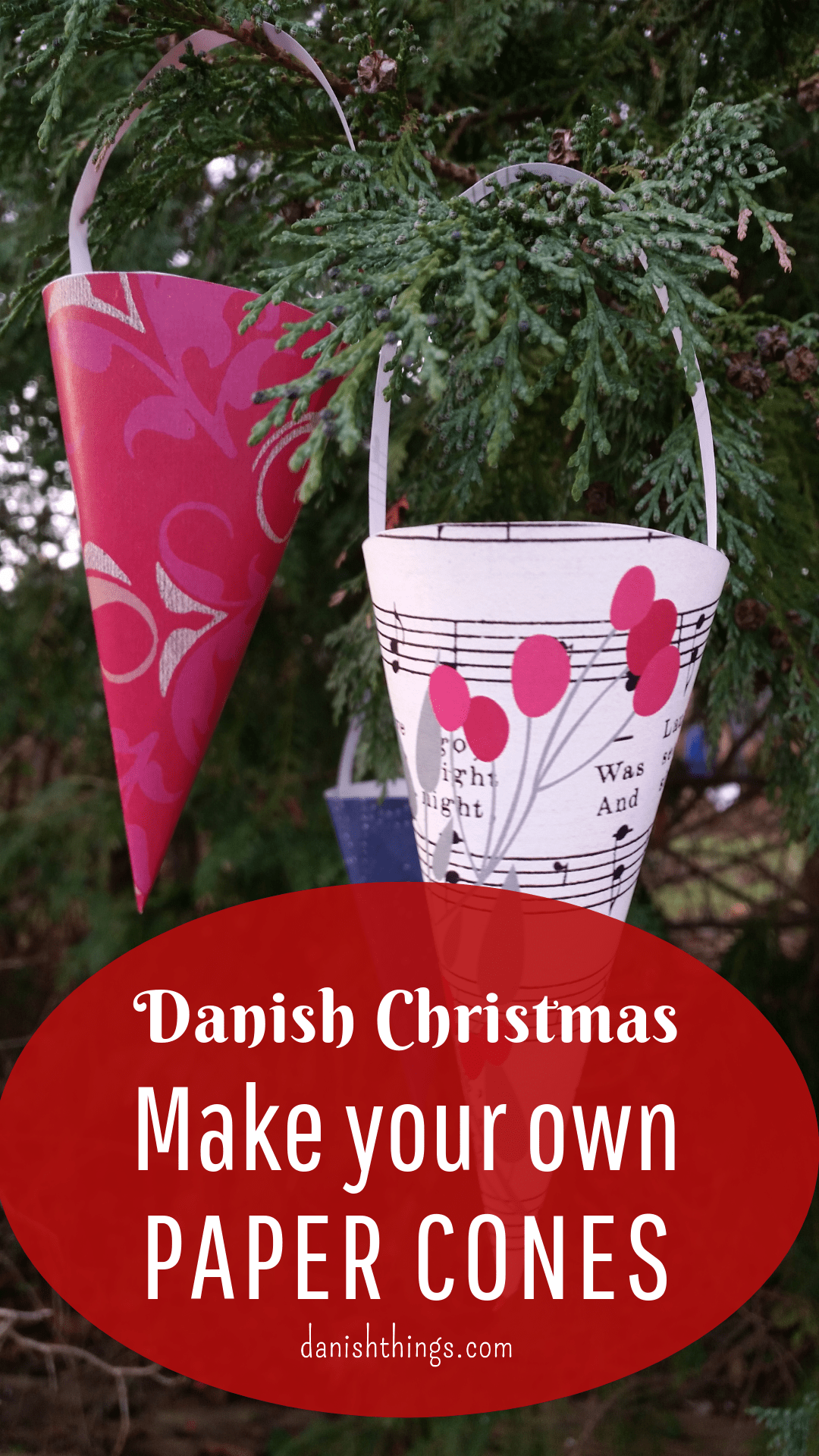 The paper cone a Danish Christmas decoration make your own paper