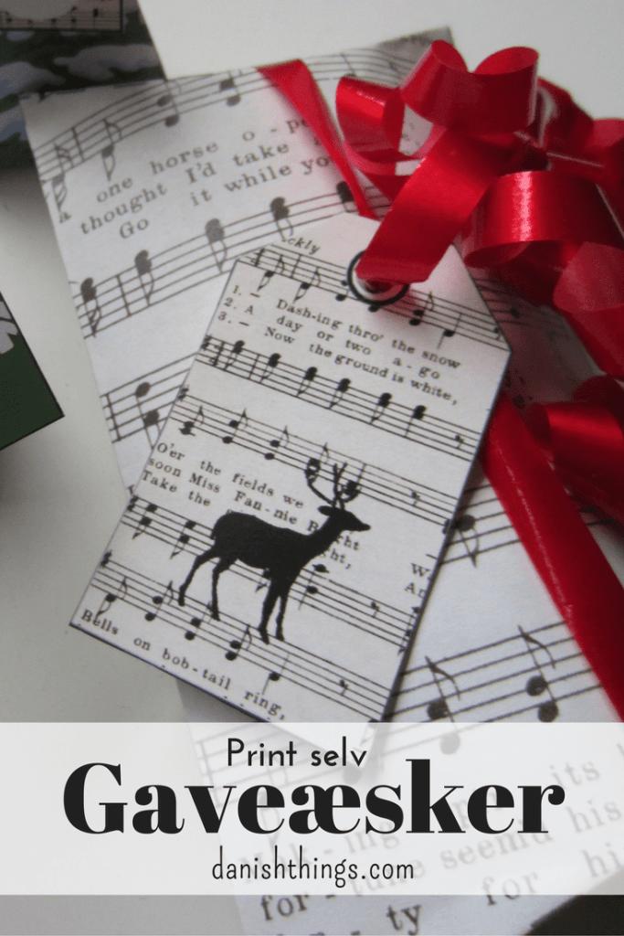 Gaveæsker til jul. Giv en hjemmelavet julegaveæske til én du holder af. Gratis print: gaveæsker, kort og plakater. Lav dine egne gaveæsker til jul og festlige lejligheder, se hvordan og find opskrifter og mere inspiration på danishthings.com.