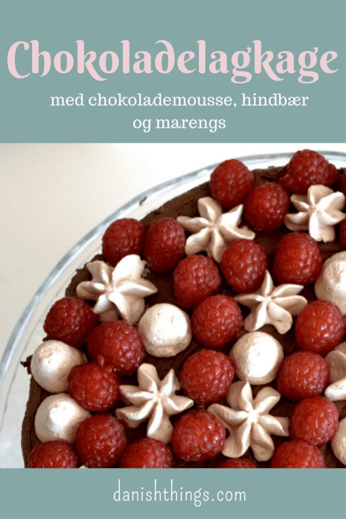 chokoladelagkage - en lagkage med chokolademousse hindbær og hindbærmarengs- Danish Things @ danishthings.com