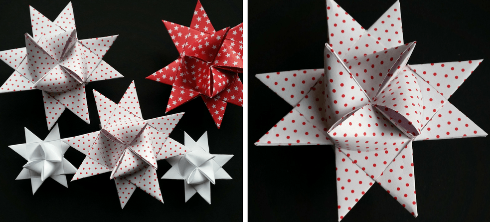 Make a Froebel star - a classic Danish Christmas decoration – find froebel star instructions @ danishthings.com Folde julestjerner eller flette julestjerner - Flettede julestjerner - find instruktioner på danishthings.com © Christel Danish Things