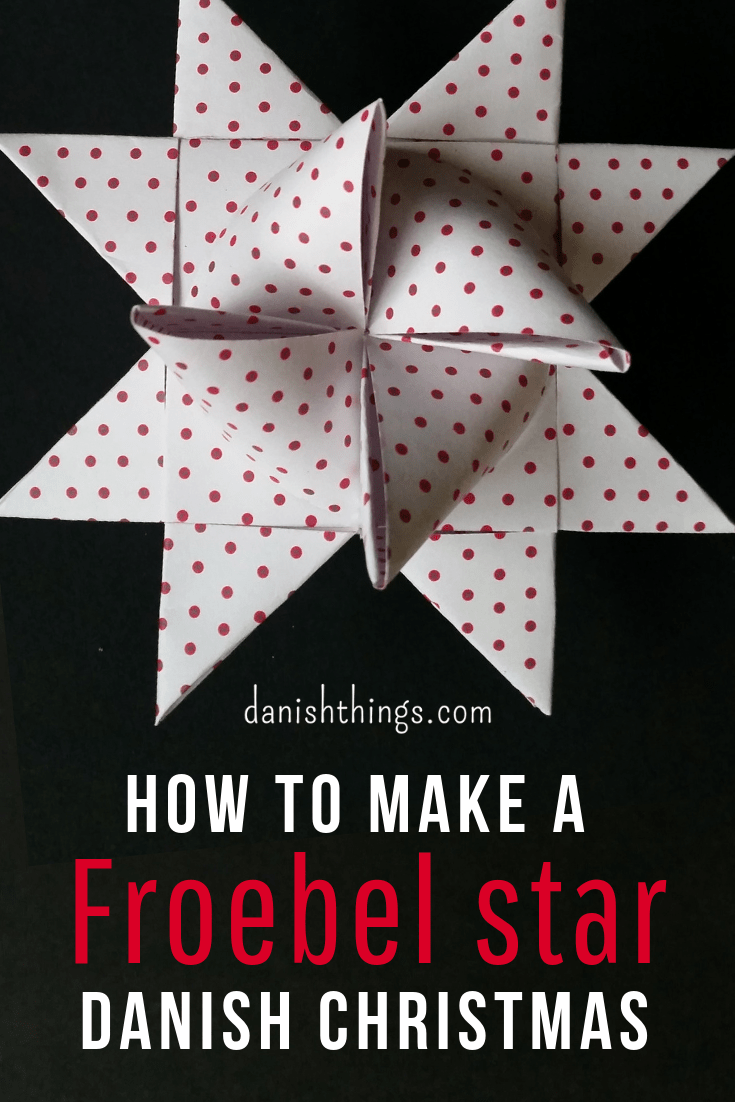 Make a Froebel star - a classic Danish Christmas decoration. If you are a beginner, check out Danish Things, you'll find Froebel star instructions, a step by step guide with text, photos and video @ danishthings.com