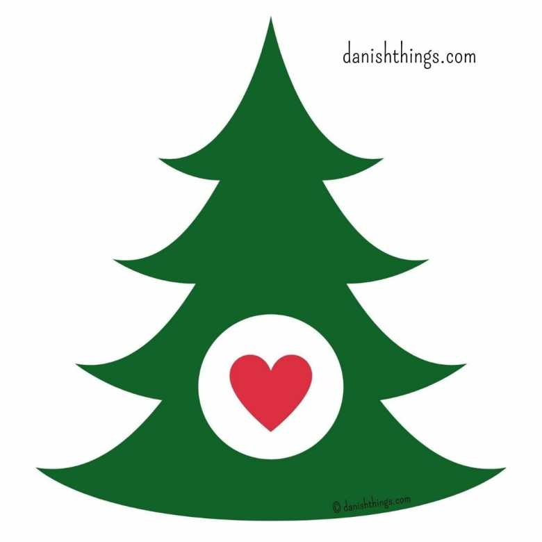 Juletræer til juleklip. Gratis skabeloner af 3 forskellige juletræer, med valgfri dekoration i midten. Find inspiration til årets gang på danishthings.com