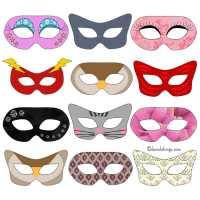 Fastelavnsmasker - masker til fastelavn eller maskerade