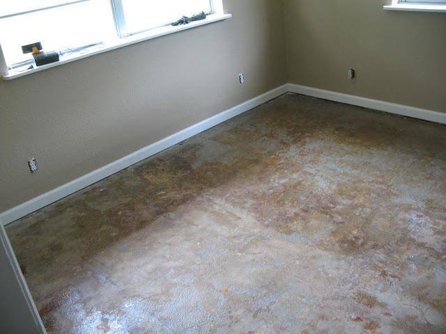 DIYStaining Concrete Floors  danitalyn