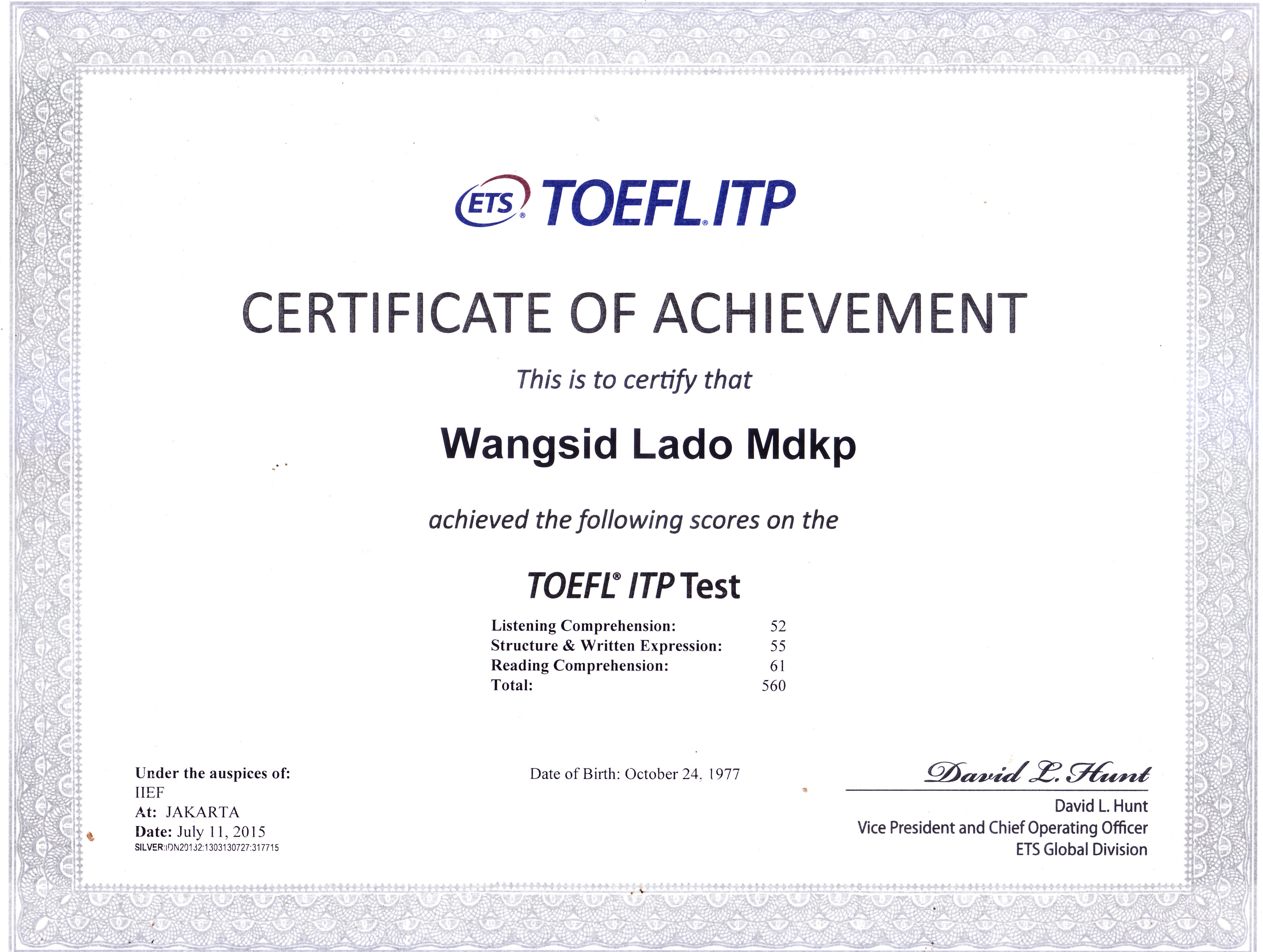 Reading Comprehension Practice For Toefl Itp