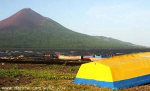 תמונות יפות למכירה צילום סירות, נוף ים, הרים, ניקרגואה 2048