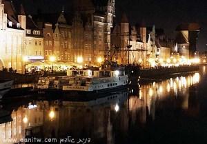 תמונות יפות למכירה צילום נוף עירוני, סירות, בתים, פולין 5046