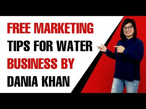 Free marketing tips for water