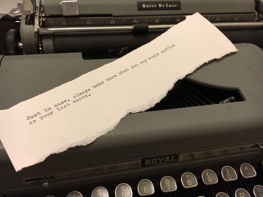 Type Writer Thought six nineteen sixteen