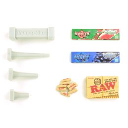 Juicy Jay's Flavoured Rolling Papers Cannagar Cone Packer Bundle with Dank Paper King Size Cannagar Cone Builder Mold Tool Kit, King Size Rolling Papers, and Pre-Shaped Raw Cone Perfecto Tips