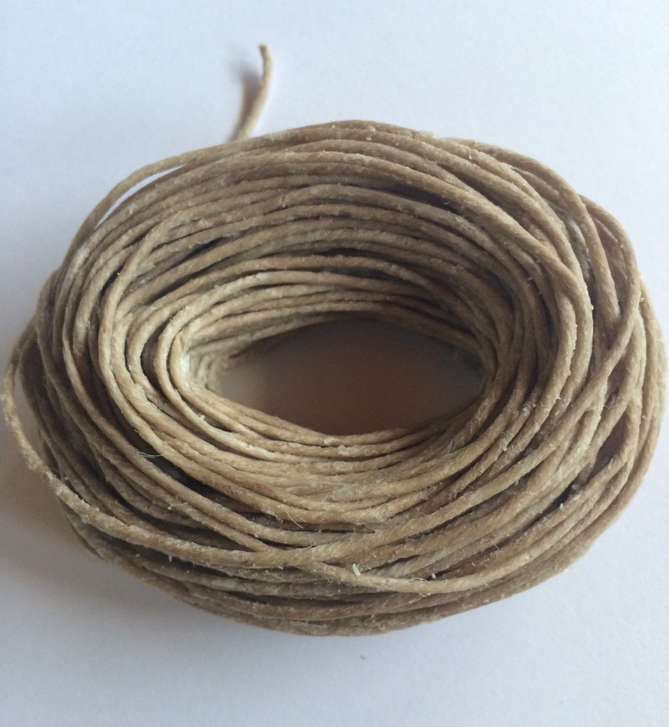 Bee Wick Hemp Wick 50ft- All Natural Hemp Wick