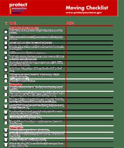 mover checklist