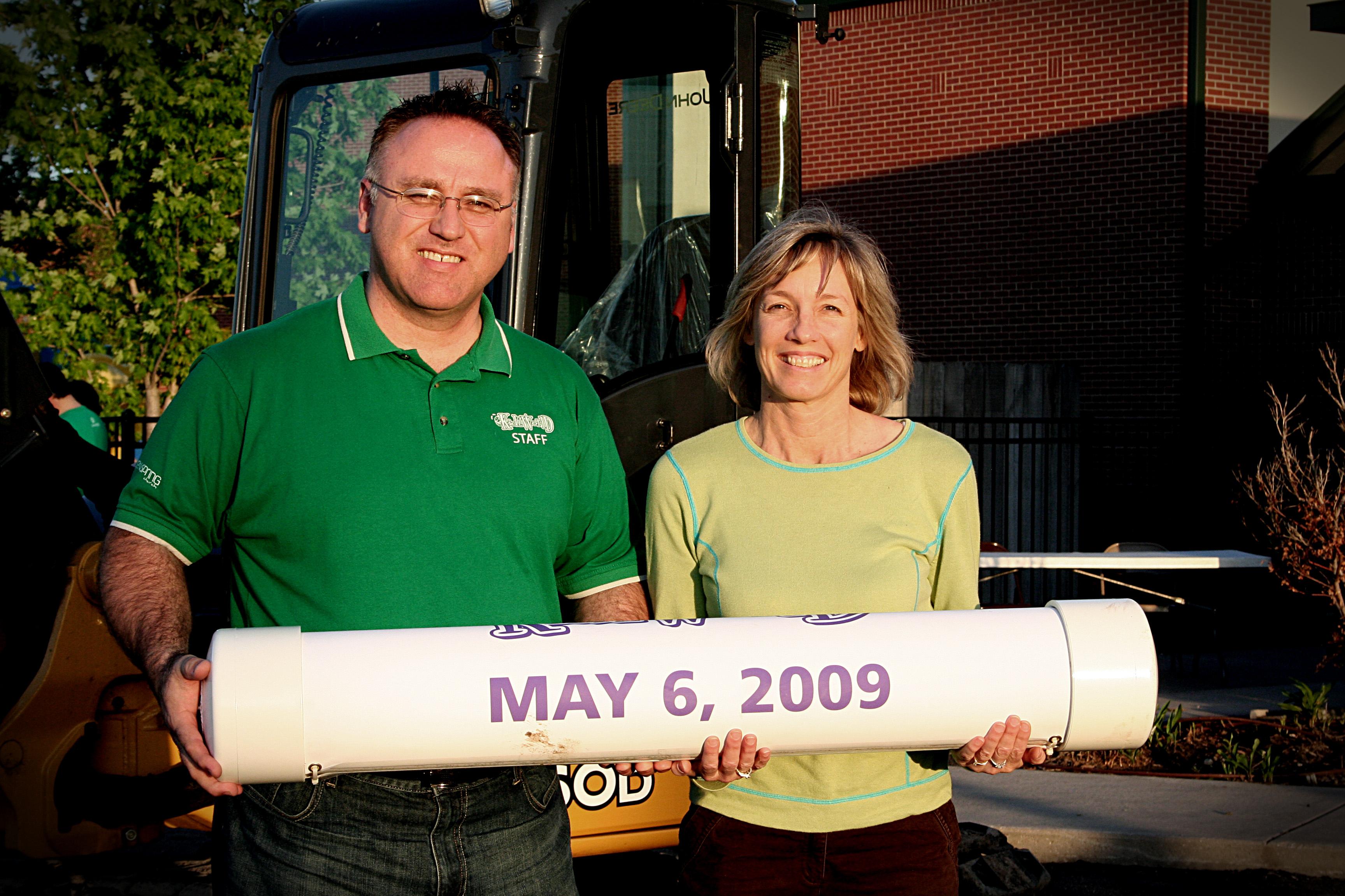 Dan & Debbie after groundbreaking