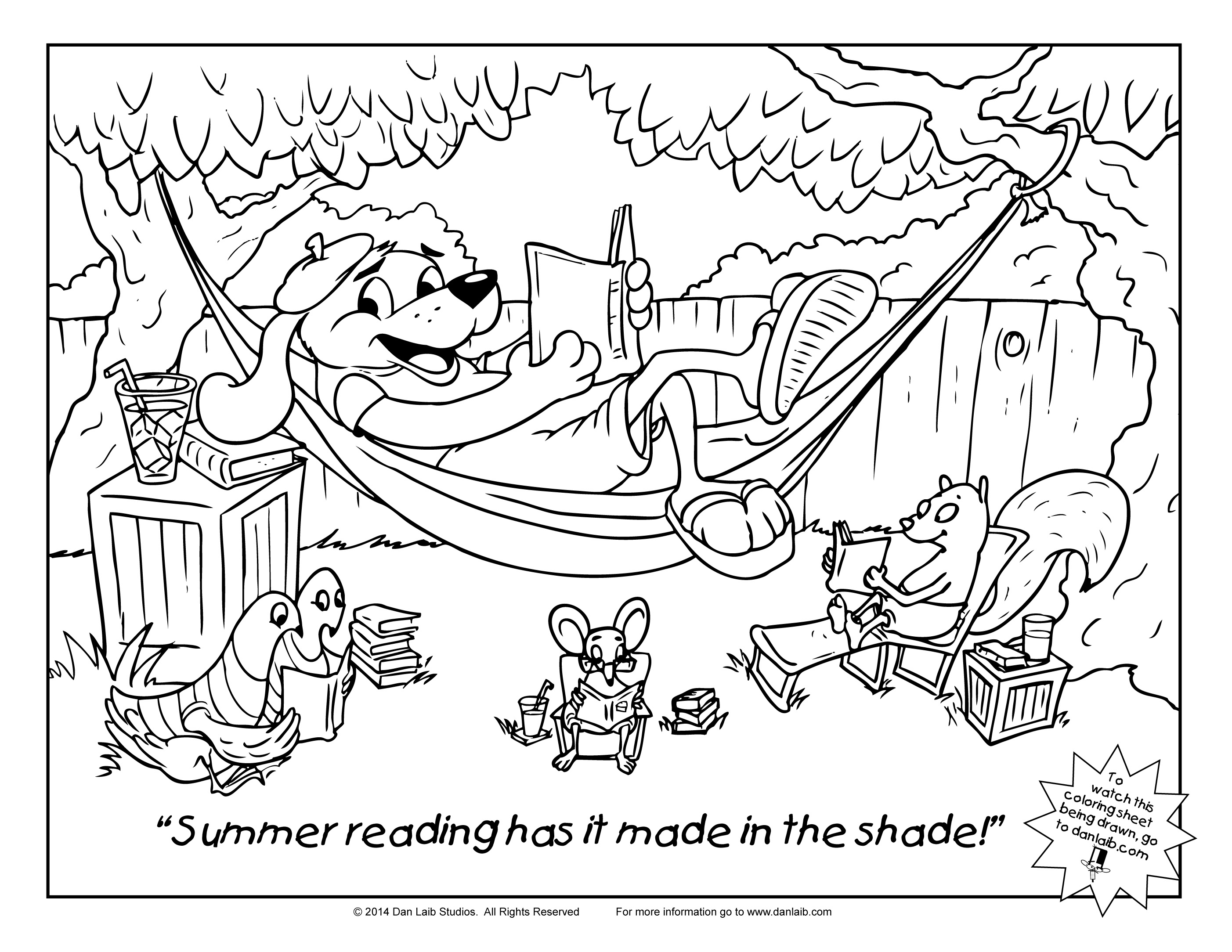 Coloring Sheet Summer Reading