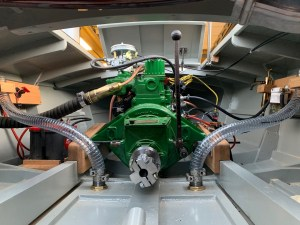 Rocket hydroplane engine compartment