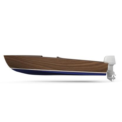 Modernised boat building plan by Dan Lee Boatbuilding Classic Wooden Speedboat In Plywood