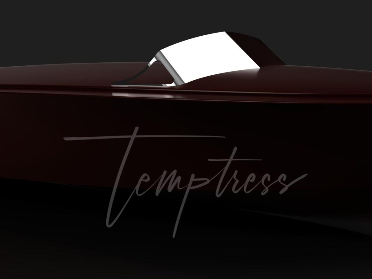 Modern wooden powerboat tender yacht tender and runabout Temptress IV