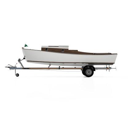 Waterman boat building plans and kit small tiller steered fishing skiff II