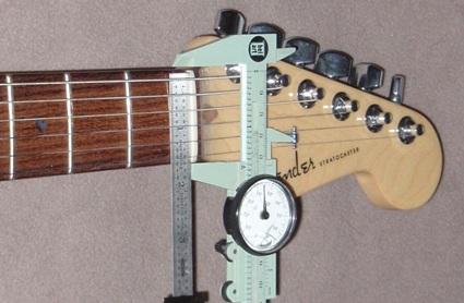 Neck width measurements: Stratocaster, Ami, OM28