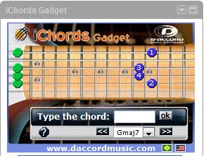 Daccord iChord iGoogle gadget