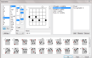 TuxGuitar - G7b5b9 chord