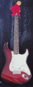 Stratocaster as gift with bow