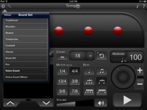 metronome settings