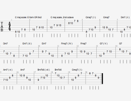 C major Scale Harmonized Arpeggios