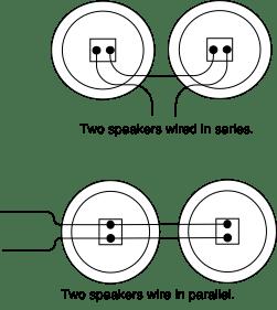 speaker wiring in series or parallel