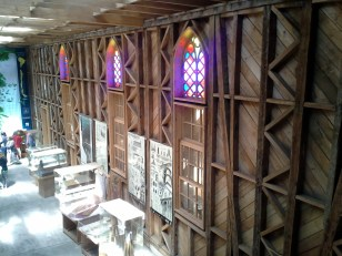 This church is made entirely from wood.