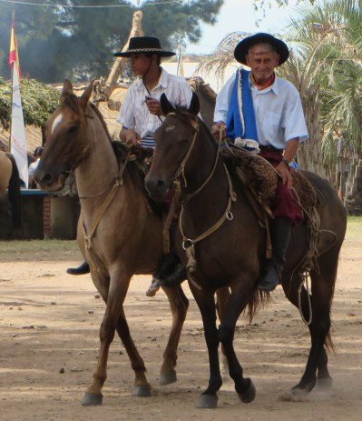 Two Gauchos in regalia