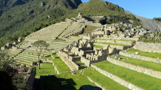 Terraced grounds where they grew crops