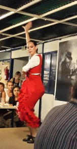 Flamenco dancers communicate an intense feel for the music
