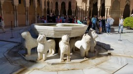 Twelve lions - art of extensive water system in the Alhambra