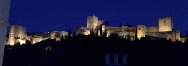 Alhambra at night