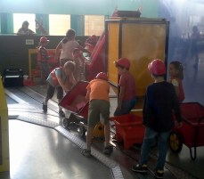 Kids doing construction exercise, Valencia Science museum. A 10 second video is here: http://youtu.be/4W81MUX-_qw