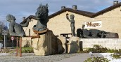 Sculptures in Rioja wine country