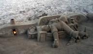 Homer sand castle, Barcelona
