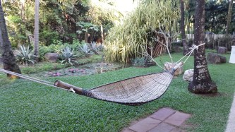 A hammock made from bamboo