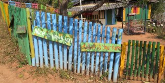 Village school - signs to help children learn English phrases