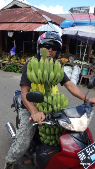Bananas on a motor bike, Tomohon