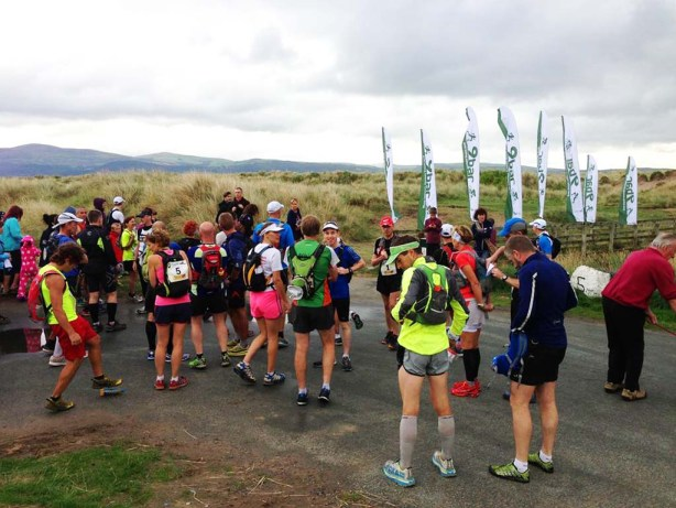Gathering at the start line. First  few miles straight down the beach!