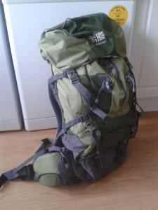 Backpack I'll be using for LEJOG run.