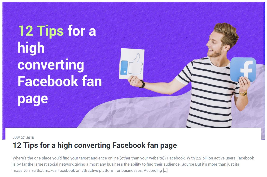 12 Tips for a High Converting Facebook Fan Page