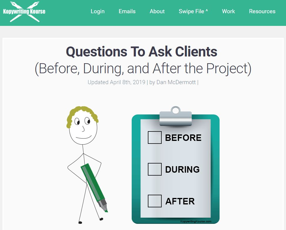 Questions to Ask Clients (Before, During, and After the Project