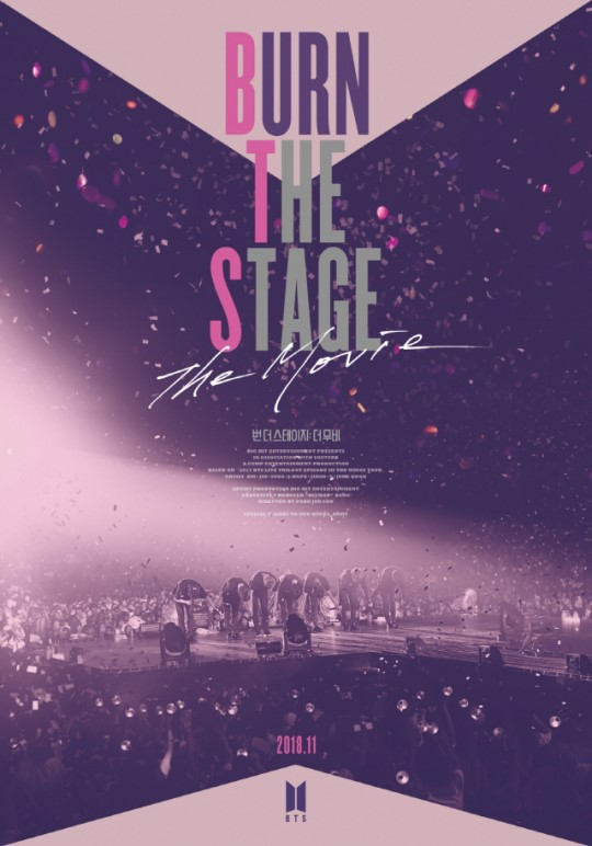 BTS「BURN THE STAGE:The Movie」ポスター