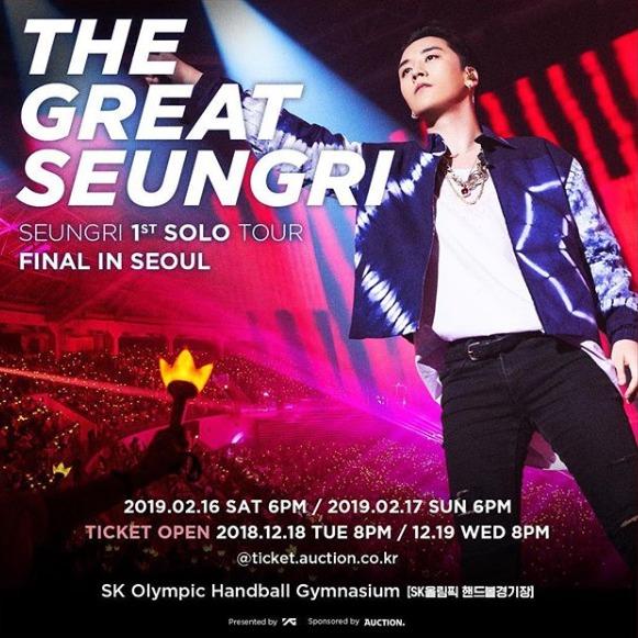 「SEUNGRI 1st SOLO TOUR [THE GREAT SEUNGRI] FINAL IN SEOUL」